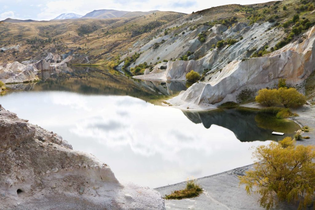 A crystalline pool reflects the beauty of Central Otago.