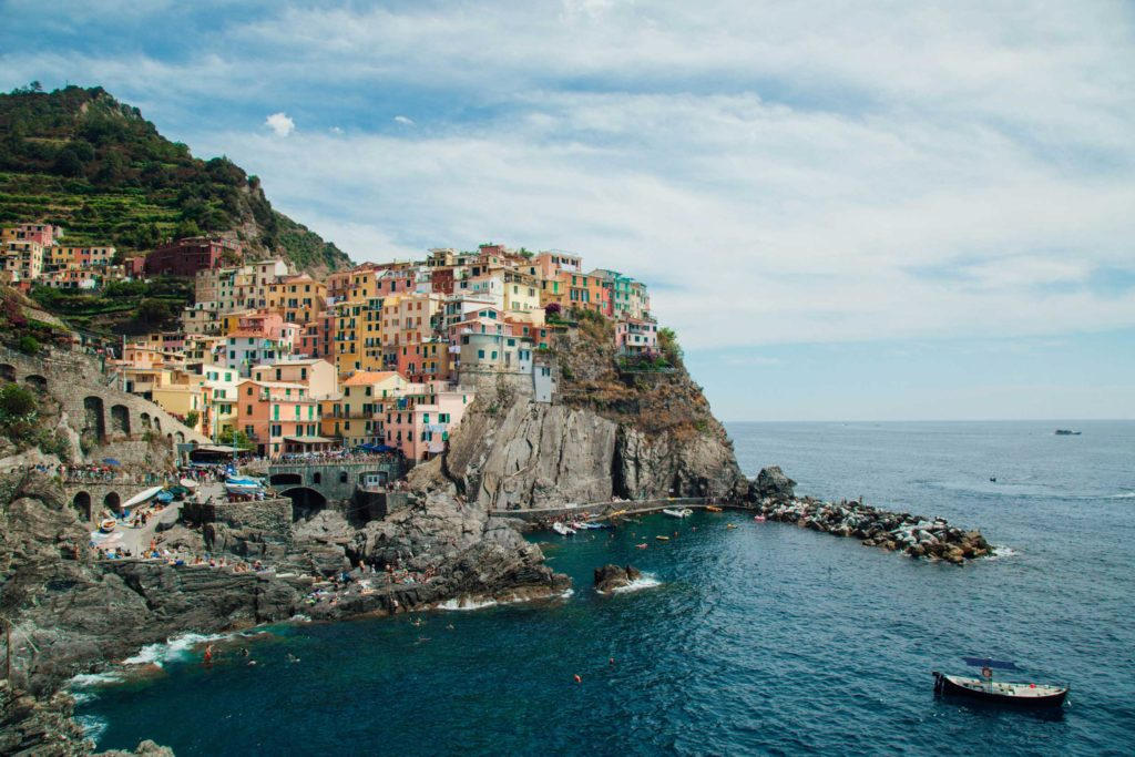 A two-hour hike brought me to this spectacular view of Manarola, the second-smallest of the five towns in Cinque Terre, Italy.