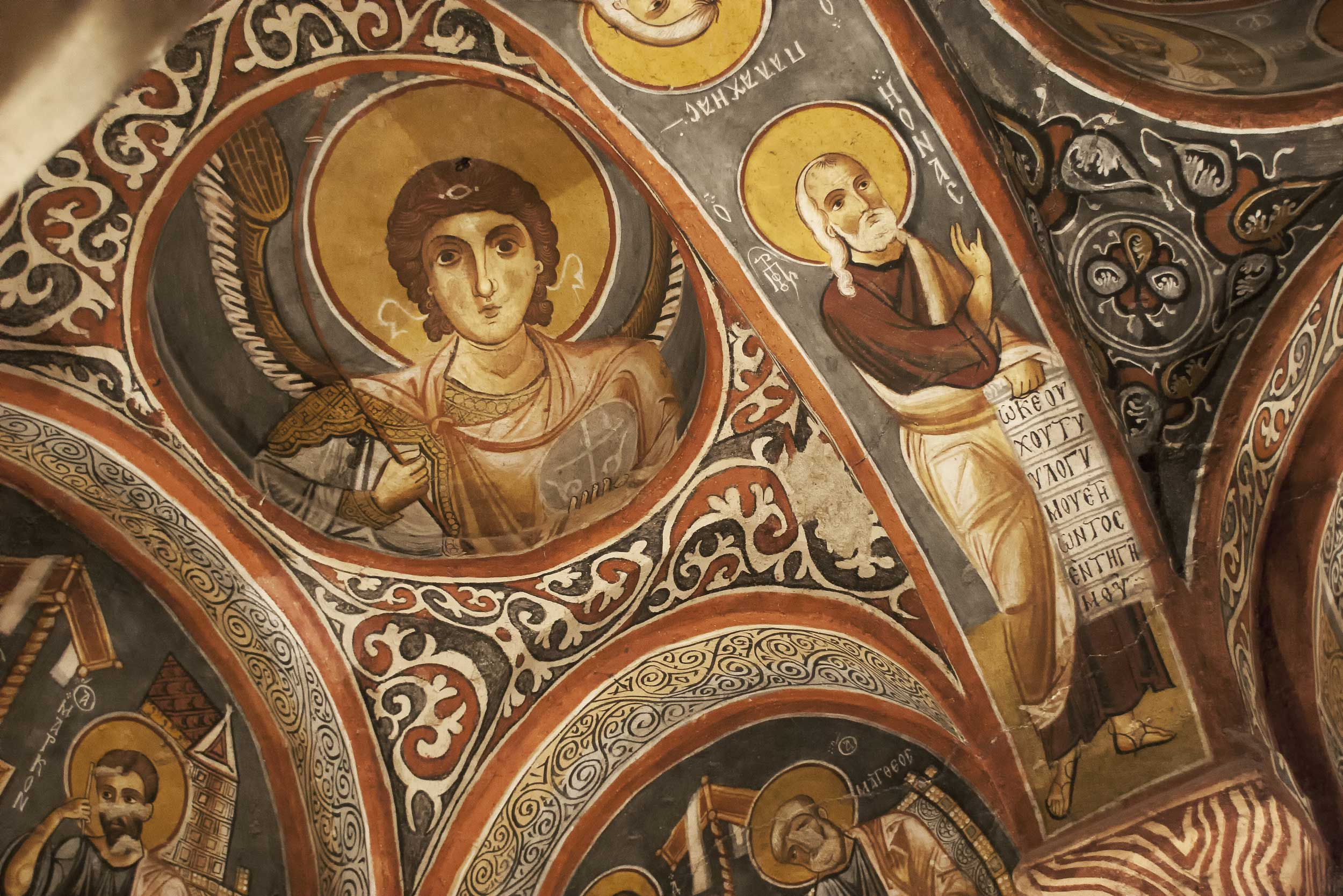 Intricate Christian themed fresco, Cappadocia