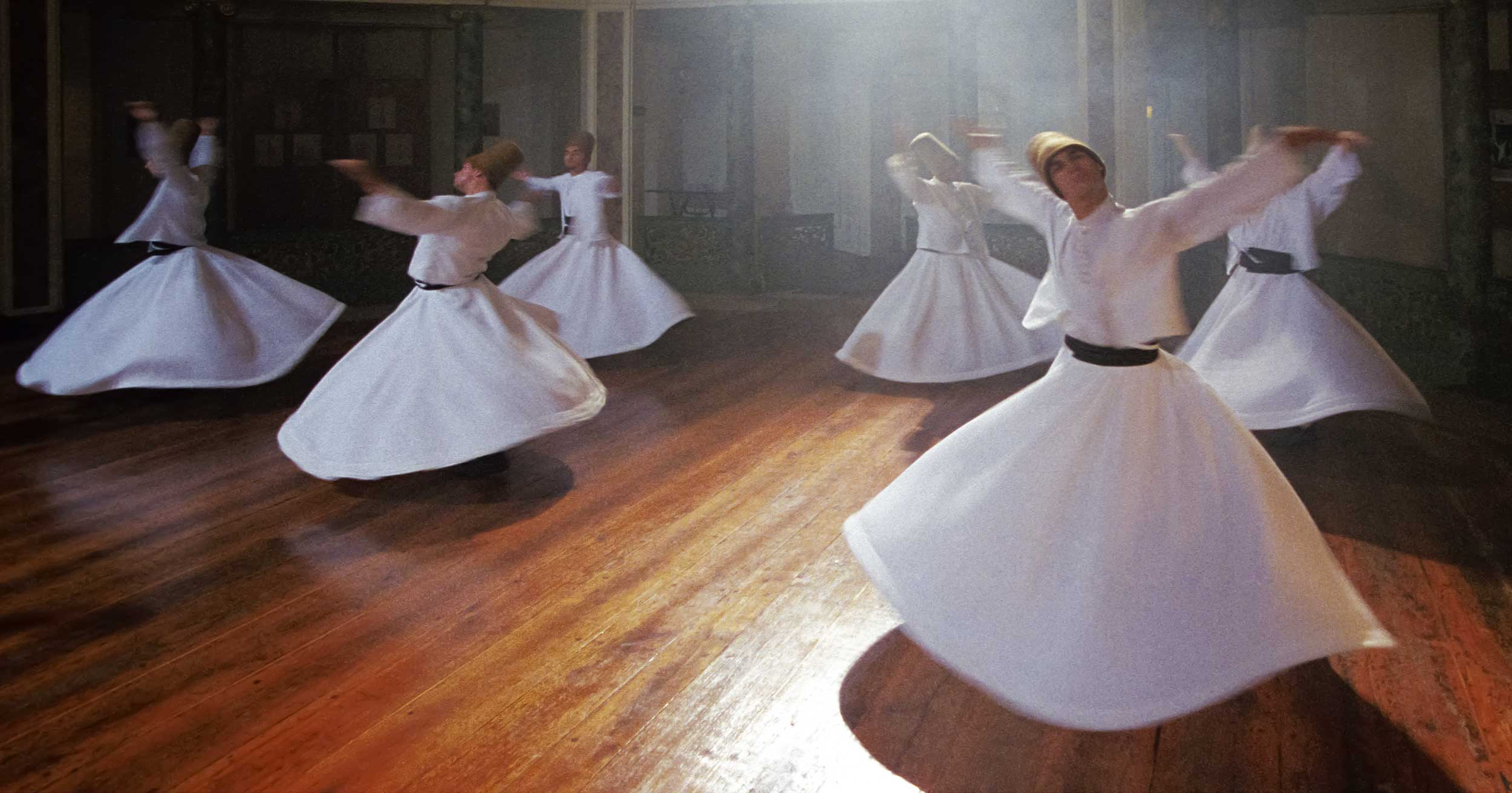 White-robed swirling men, Turkey