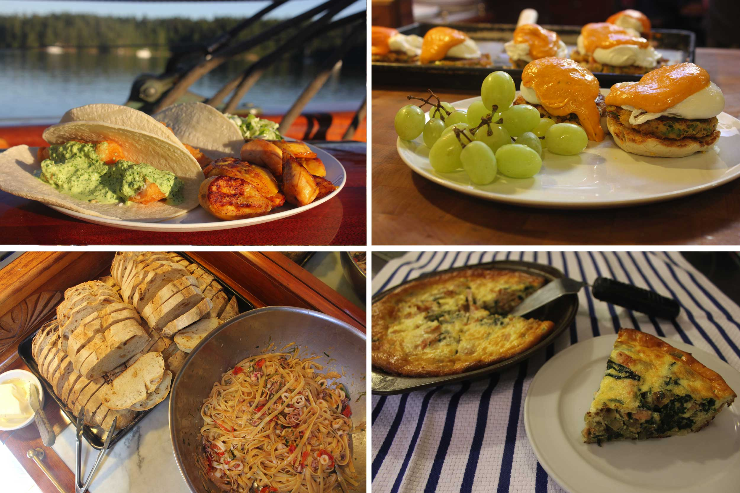 Montage of food dishes
