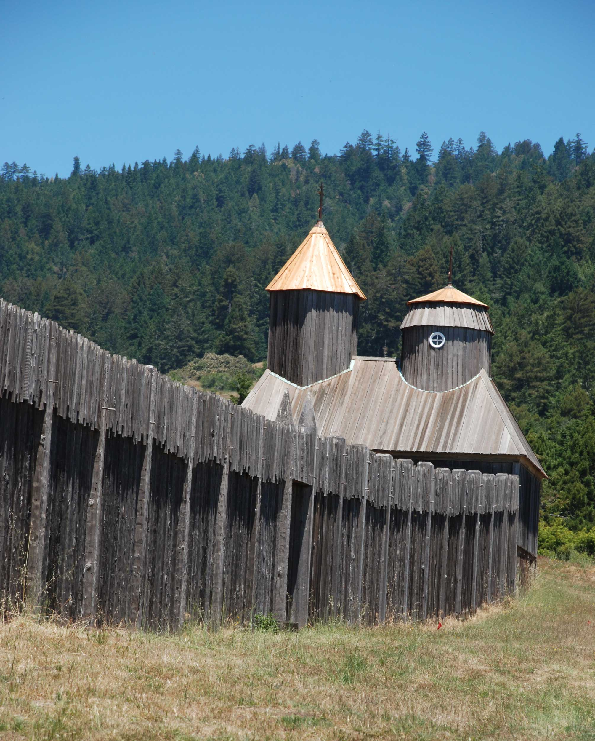 A wooden fortress rampart, Sonoma County