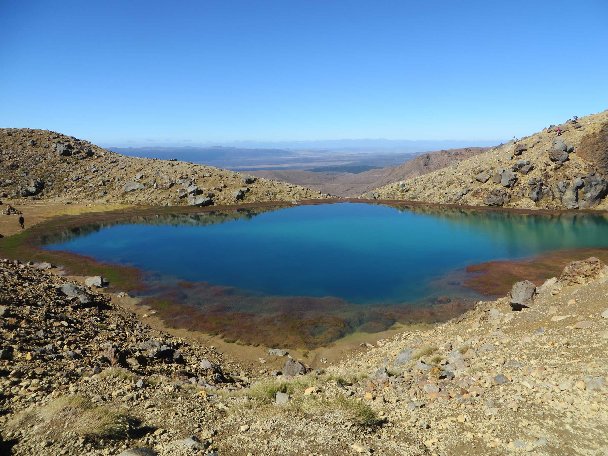 A deep blue lake on the Tongariro Crossing, New Zealand.