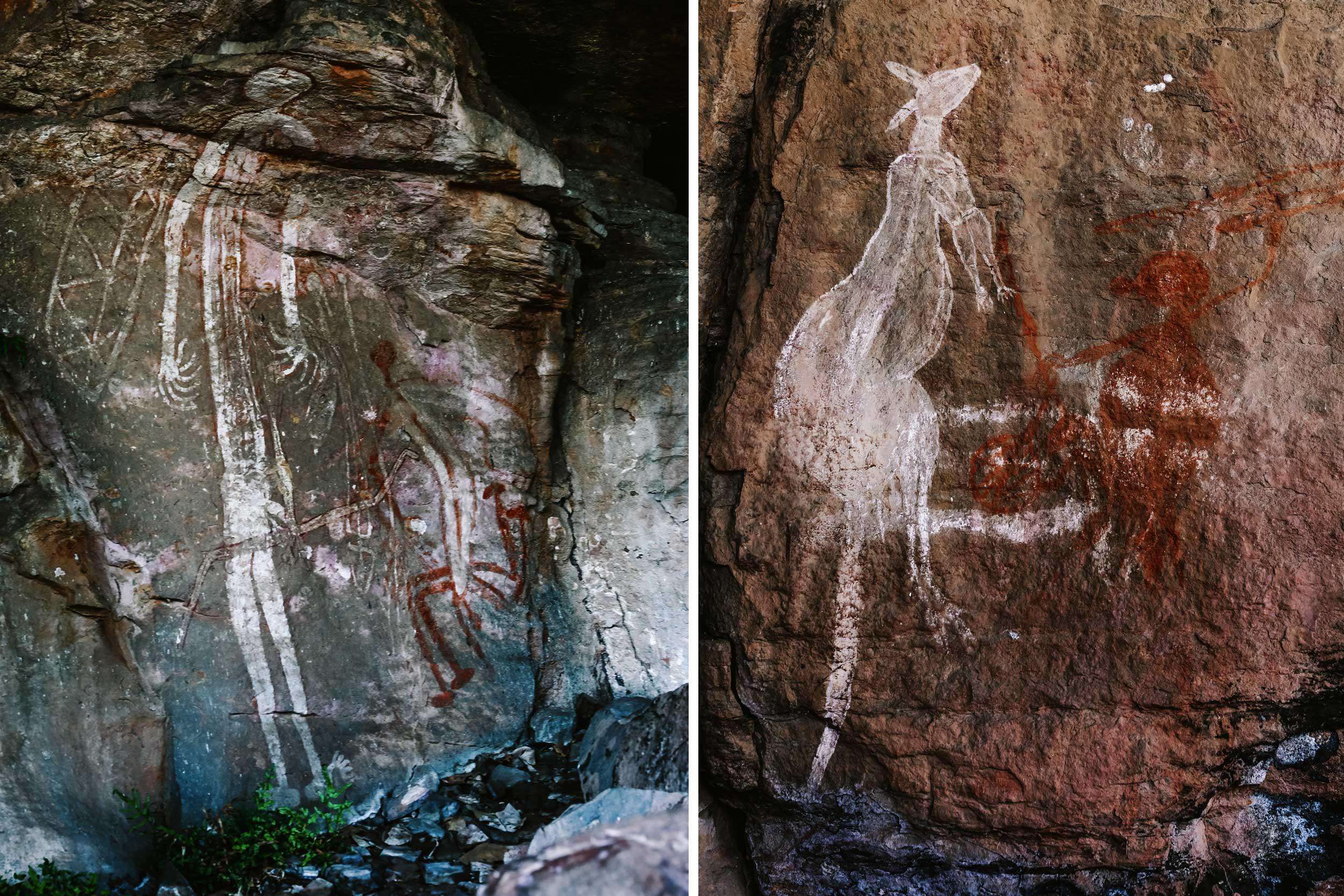 Montage of aboriginal art, Northern Territory, Australia